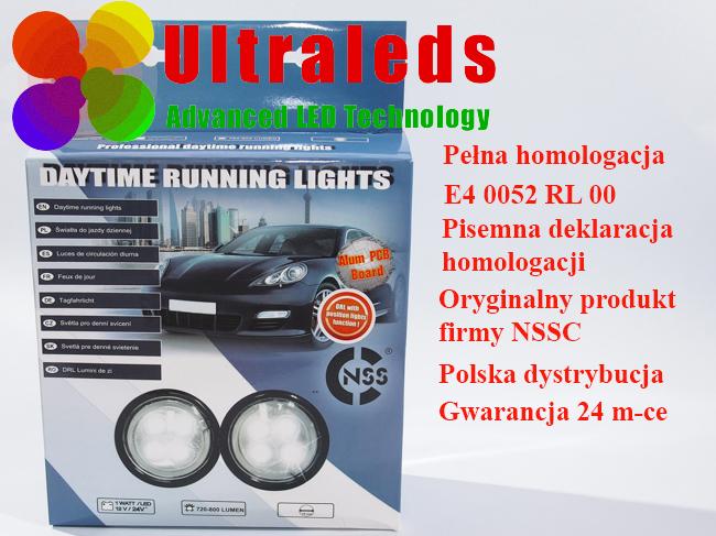 Światła do jazdy dziennej LED NSSC 510L z homologacją